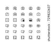 minimal icon set of multimedia...
