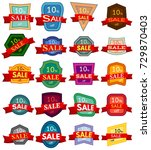 set of twenty discount stickers.... | Shutterstock . vector #729870403