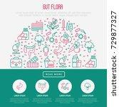 gut flora concept in half... | Shutterstock .eps vector #729877327