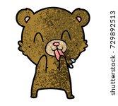 rude cartoon bear | Shutterstock .eps vector #729892513