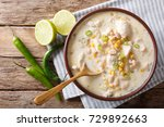 white chili chicken with beans  ... | Shutterstock . vector #729892663