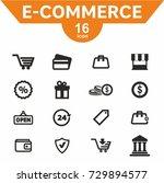 ecommerce icon set vector | Shutterstock .eps vector #729894577