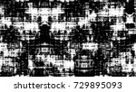 black white seamless grunge... | Shutterstock .eps vector #729895093