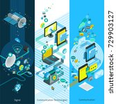 telecommunication isometric... | Shutterstock . vector #729903127