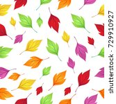 seamless pattern with autumn... | Shutterstock .eps vector #729910927