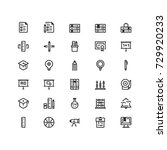 minimal icon set of  education... | Shutterstock .eps vector #729920233