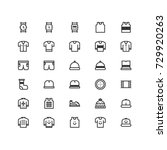 minimal icon set of  clothing...