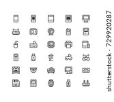 minimal icon set of  device and ...
