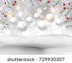 3d render of a christmas... | Shutterstock . vector #729930307