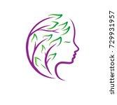 beauty leaf logo | Shutterstock .eps vector #729931957