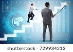 businessman in financial...   Shutterstock . vector #729934213