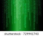 binary circuit board future...   Shutterstock .eps vector #729941743