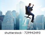 businessman in career... | Shutterstock . vector #729942493