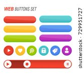 web buttons set vector isolated | Shutterstock .eps vector #729951727