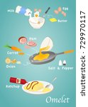 icons of products for fried... | Shutterstock .eps vector #729970117
