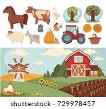 farm household or farmer...   Shutterstock .eps vector #729978457
