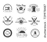tailor shop salon vector icons... | Shutterstock .eps vector #729978487