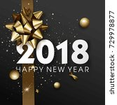 happy new year 2018 greeting... | Shutterstock .eps vector #729978877