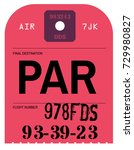 vintage luggage tag. real... | Shutterstock .eps vector #729980827