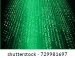 binary circuit board future...   Shutterstock .eps vector #729981697