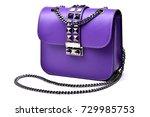 purple fashion woman handbag... | Shutterstock . vector #729985753