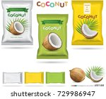 Coconut candy packaging | Shutterstock vector #729986947