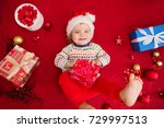 beautiful child baby girl... | Shutterstock . vector #729997513