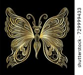 beautiful  butterfly. vector... | Shutterstock .eps vector #729999433
