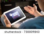 hacked account on tablet. cyber ... | Shutterstock . vector #730009843