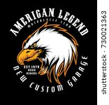 american legend .new custom... | Shutterstock .eps vector #730021363