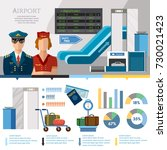 airport infographics... | Shutterstock .eps vector #730021423