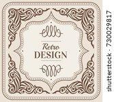 vintage retro decorative frame... | Shutterstock .eps vector #730029817