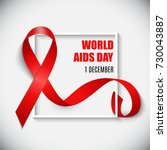 december 1 world aids day... | Shutterstock .eps vector #730043887