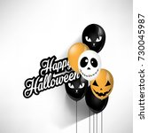 halloween party scary balloons. ...   Shutterstock .eps vector #730045987