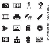 photography icons. black flat... | Shutterstock .eps vector #730051813