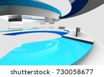 3d glossy reflective white and... | Shutterstock . vector #730058677