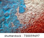old paint on the wall | Shutterstock . vector #730059697