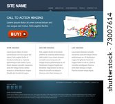 modern website template with...   Shutterstock .eps vector #73007614