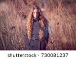 outdoor atmospheric lifestyle... | Shutterstock . vector #730081237
