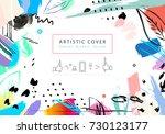 creative universal floral...   Shutterstock .eps vector #730123177