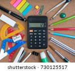 stationery of education for... | Shutterstock . vector #730125517