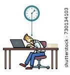 deadline. employee or freelance ... | Shutterstock .eps vector #730134103