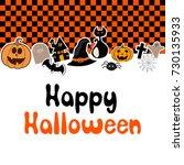happy halloween vector... | Shutterstock .eps vector #730135933