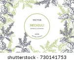 vintage floral background with... | Shutterstock .eps vector #730141753