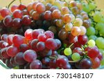 red and white grapes | Shutterstock . vector #730148107