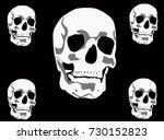 illustration with skulls... | Shutterstock .eps vector #730152823