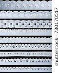 white ornamentation lace... | Shutterstock . vector #730170517
