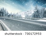 winter road | Shutterstock . vector #730172953