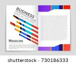 abstract vector layout... | Shutterstock .eps vector #730186333