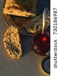 artisan made savoy olive loaf...   Shutterstock . vector #730186987